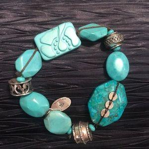 SILPADA B2162 Turquoise Stretch Bracelet